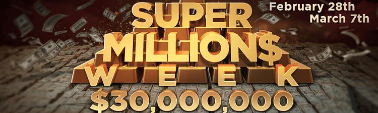 Super Million$ Week для хайроллеров с гарантией $30M